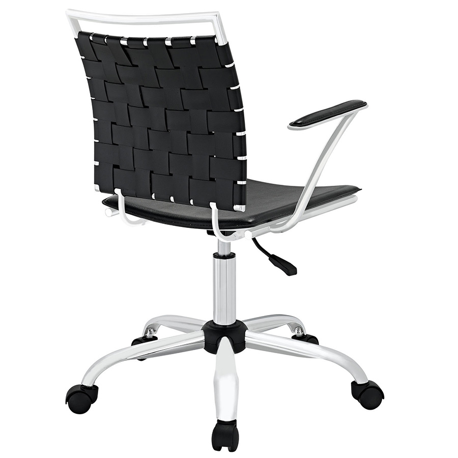 Fusion Modern Black Office Chair - Back View