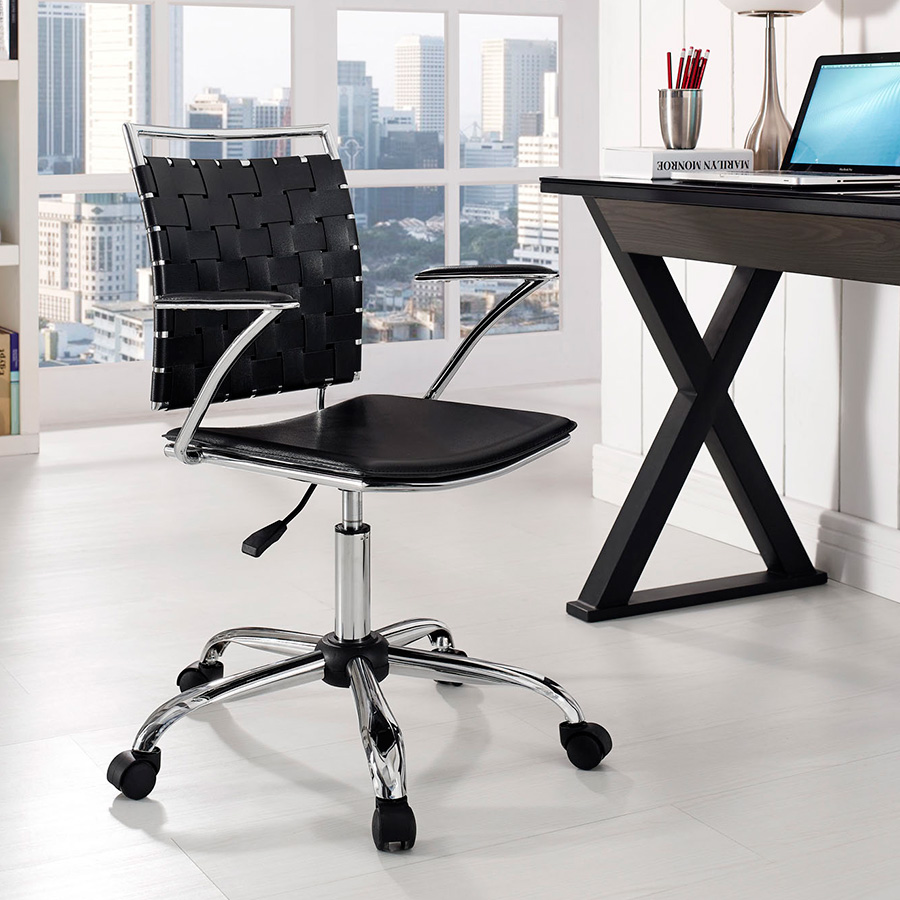 Fusion Contemporary Black Office Chair
