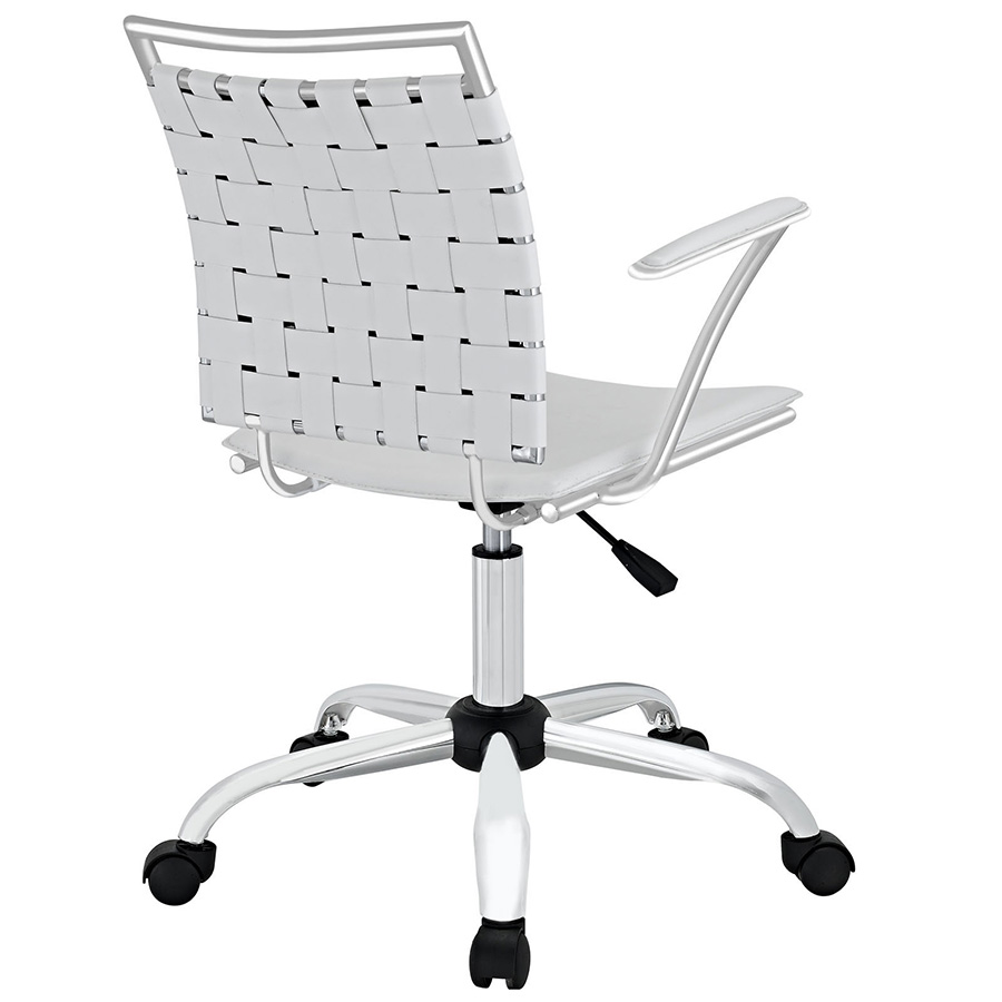 Fusion Modern White Office Chair - Back View