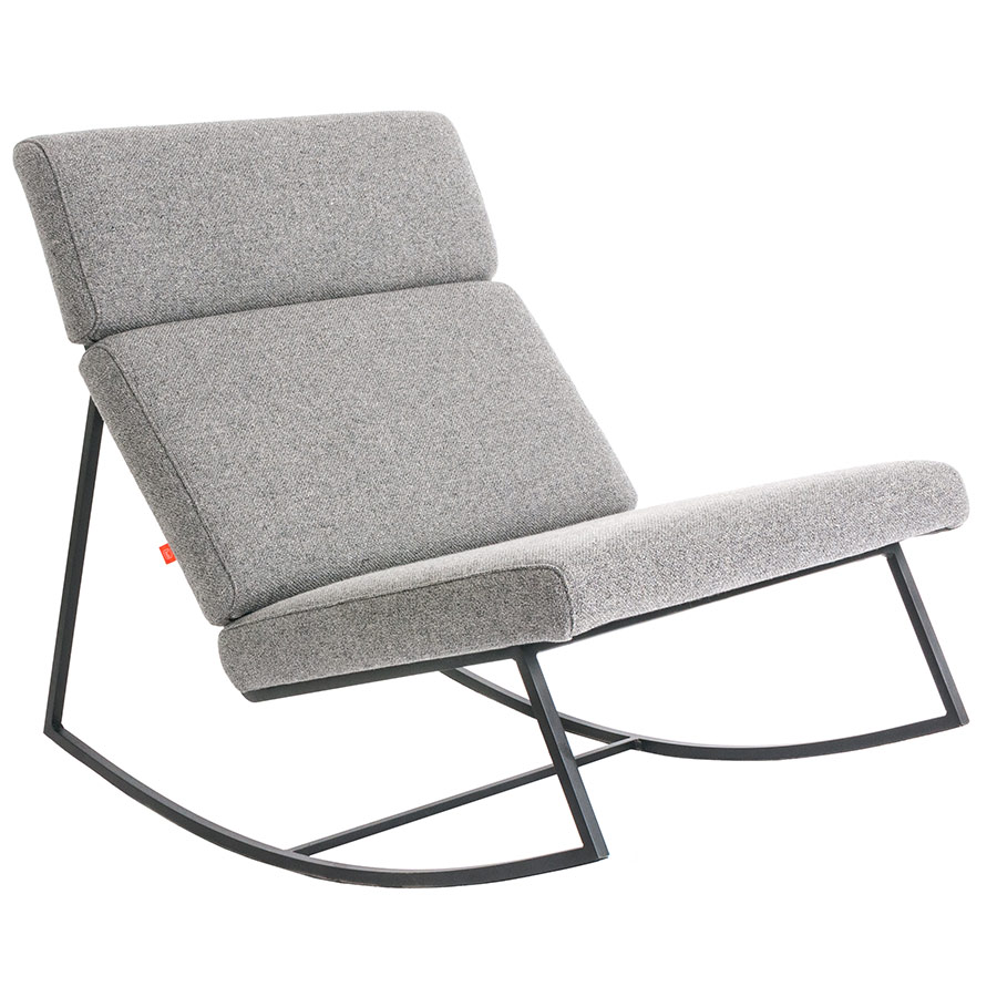 GT Rocker Contemporary Lounge Chair in Varsity Charcoal