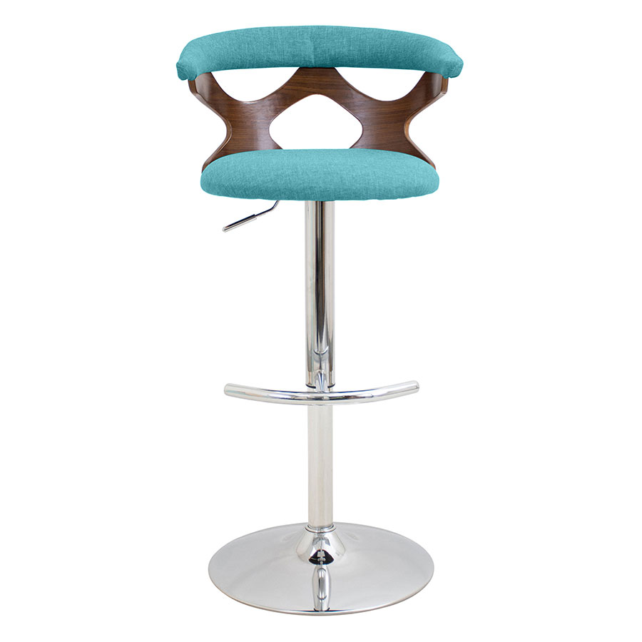 Gad Teal Contemporary Adjustable Stool