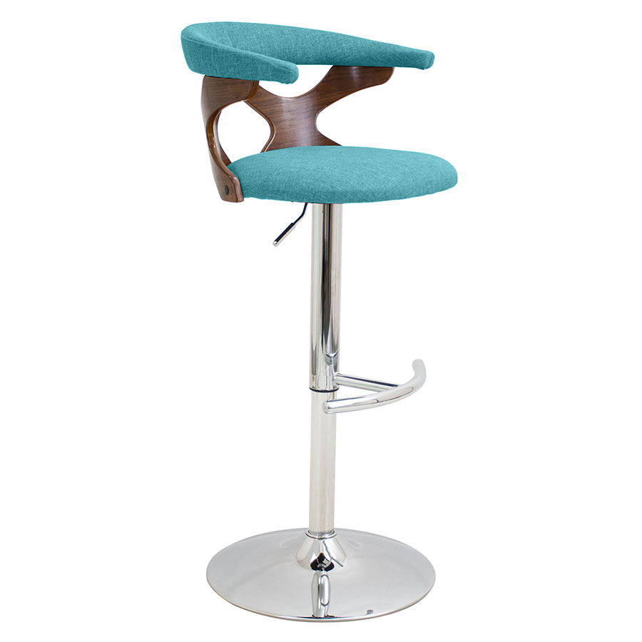 Gad Teal Modern Adjustable Stool