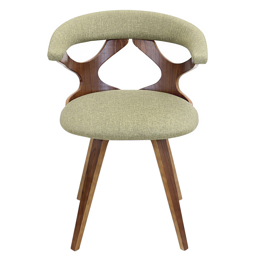 Gad Green Contemporary Dining Chair