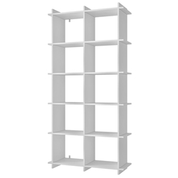 Gallagher Modern White Double Book Shelf