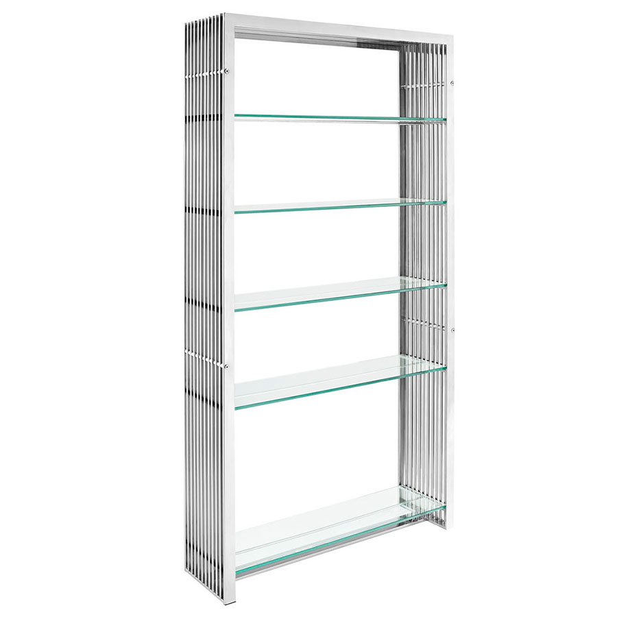 Galvano Modern Stainless Steel Book Shelf