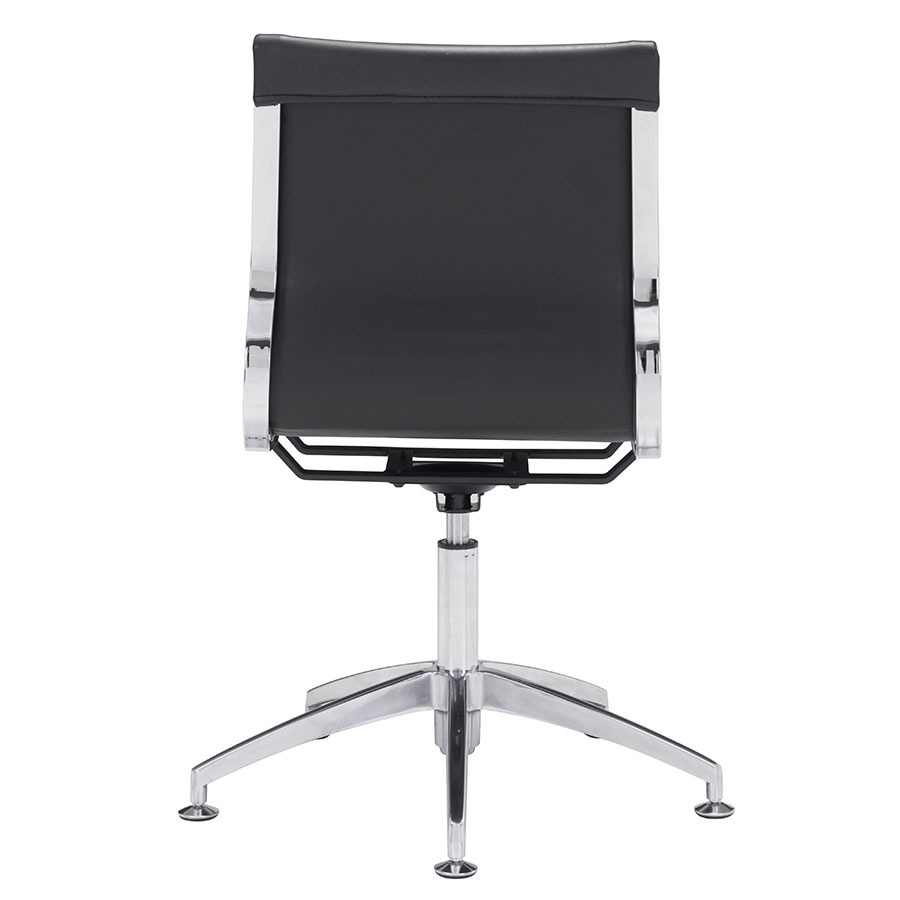 Gamila Black Leatherette Contemporary Conference Chair