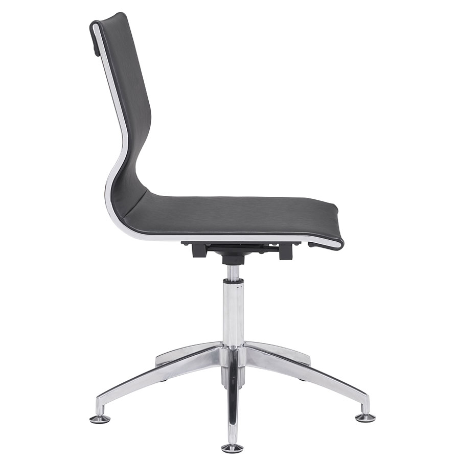 Gamila Black Leatherette Modern Conference Chair