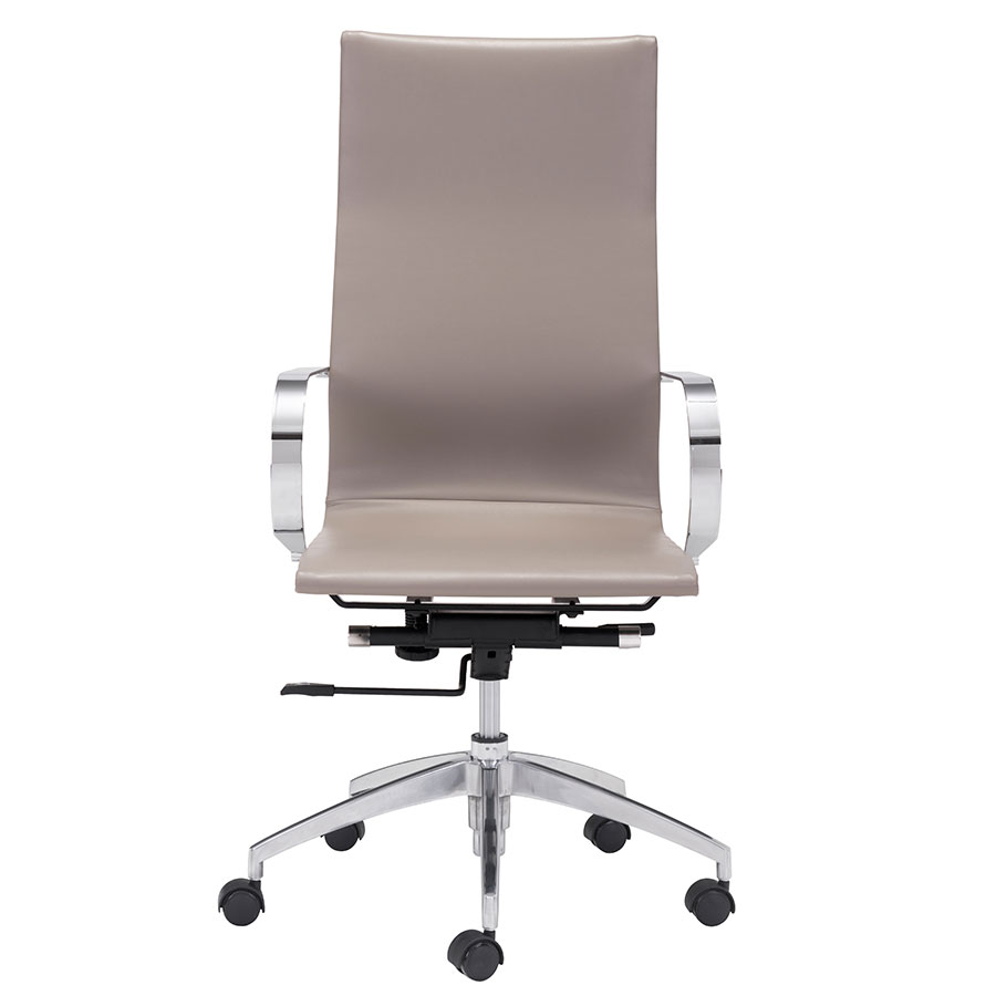 Gamila Taupe Contemporary High Back Office Chair