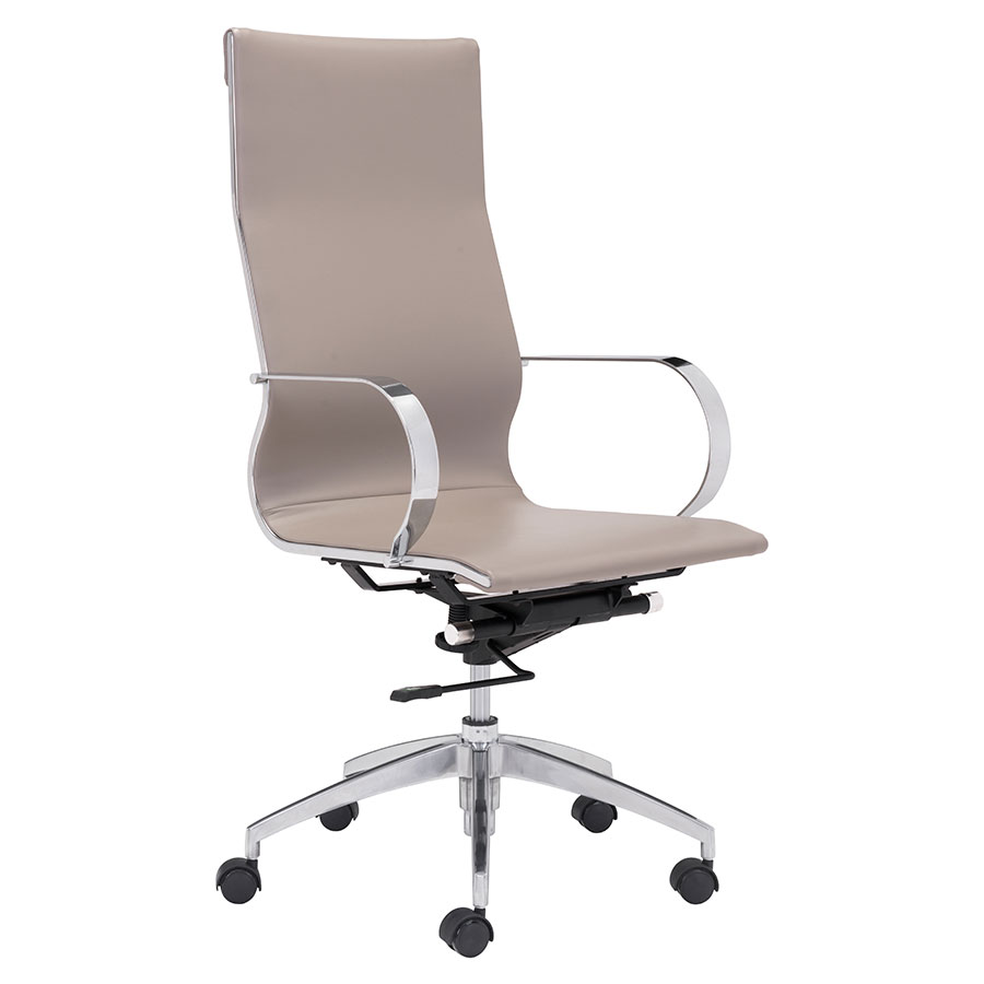 Gamila Taupe Modern High Back Office Chair