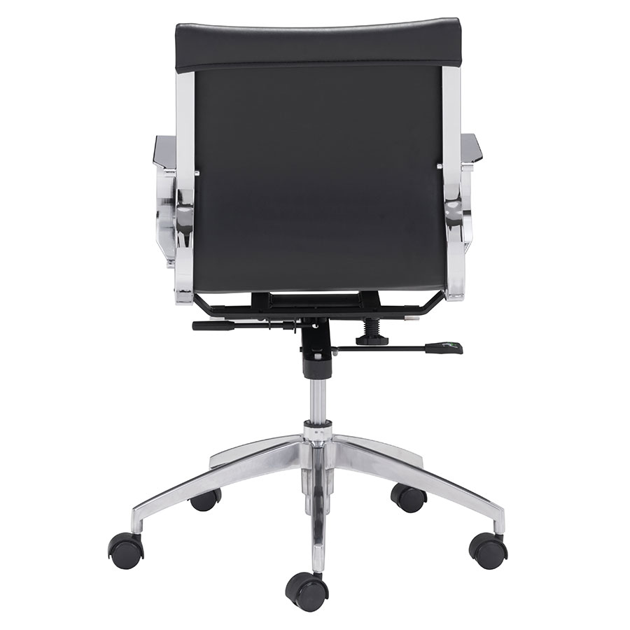 Gamila Black Leatherette Contemporary Low Back Office Chair