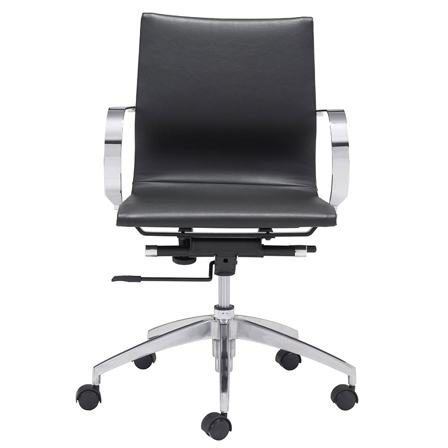 Gamila Black Contemporary Low Back Office Chair