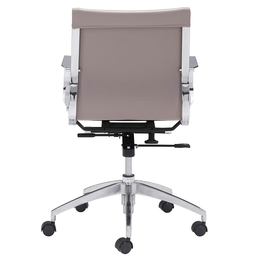 Gamila Taupe Leatherette Contemporary Low Back Office Chair
