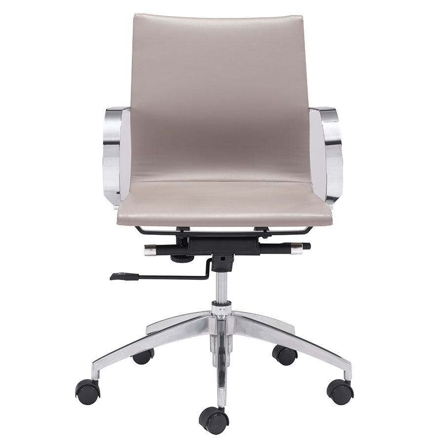 Gamila Taupe Contemporary Low Back Office Chair