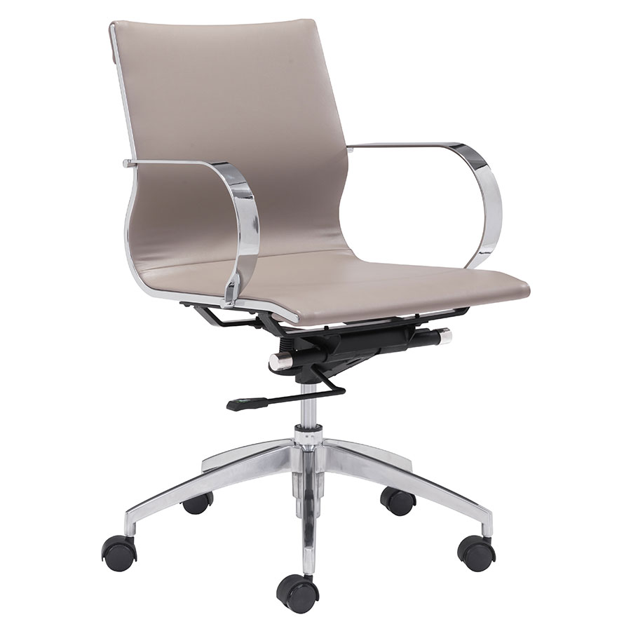 Gamila Taupe Modern Low Back Office Chair