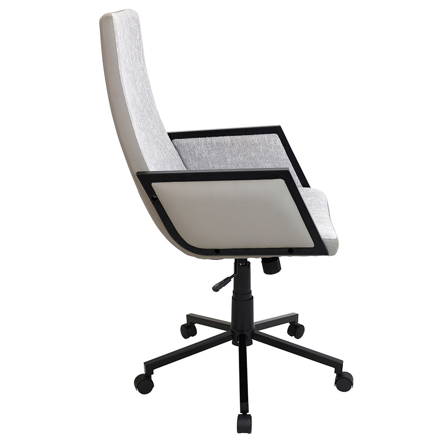 Genesis Tan Modern Executive Office Chair - Side View