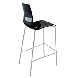 Geoffrey Black Modern Bar Stool