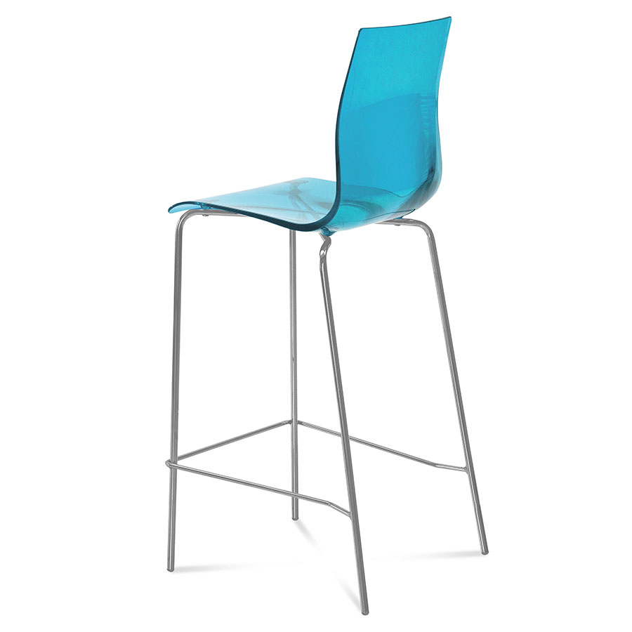 Geoffrey Blue Modern Bar Stool