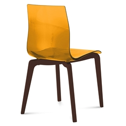 Geoffrey Orange Modern Dining Chair