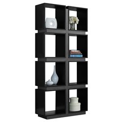 George Modern Black + Grey Cubic Bookcase