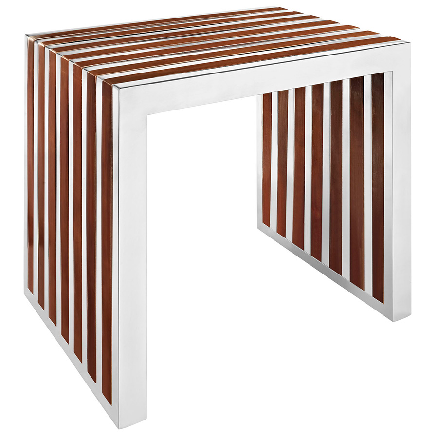 Germany Small Modern Wood Inlay Bench