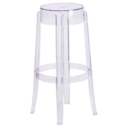 Ghost Modern Transparent Polycarbonate Bar Stool