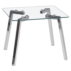 Gibson Modern Glass End Table