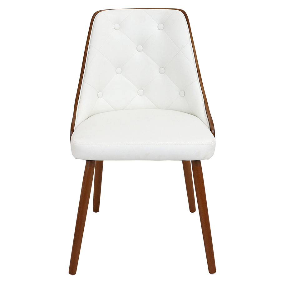 Gigi White Contemporary Side Chair