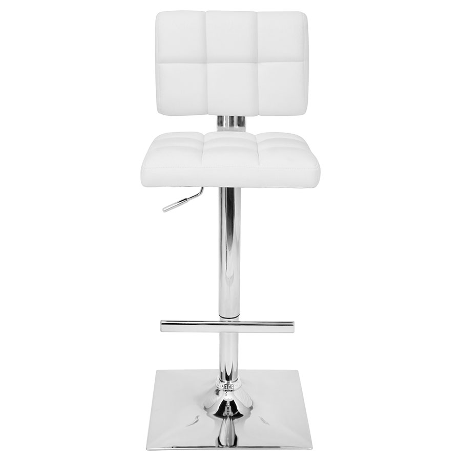 Giselle White Contemporary Adjustable Stool