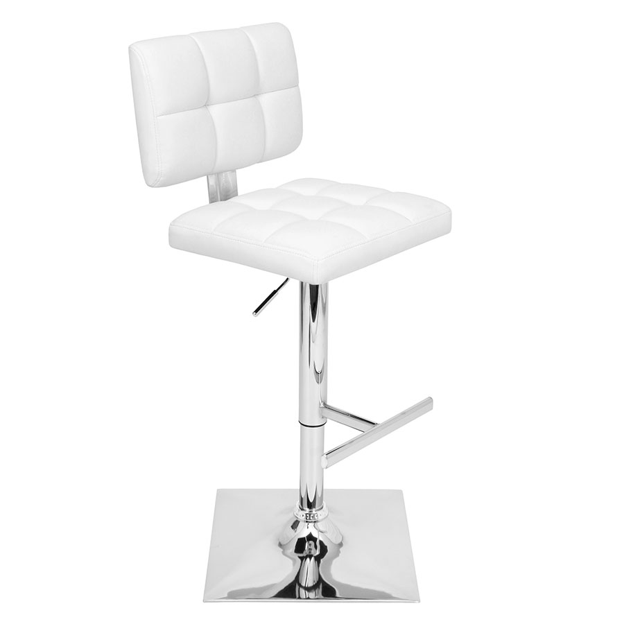 Giselle White Modern Adjustable Stool