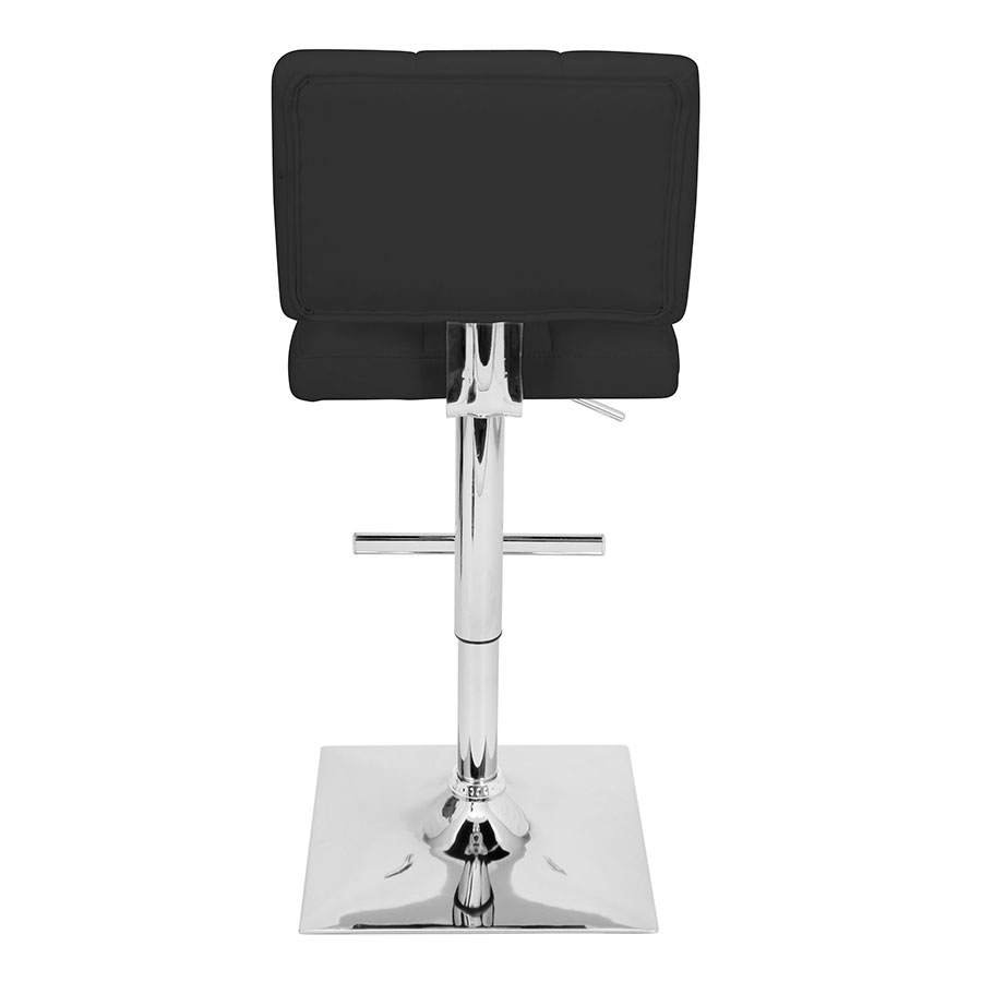 Giselle Black + Chrome Adjustable Modern Stool
