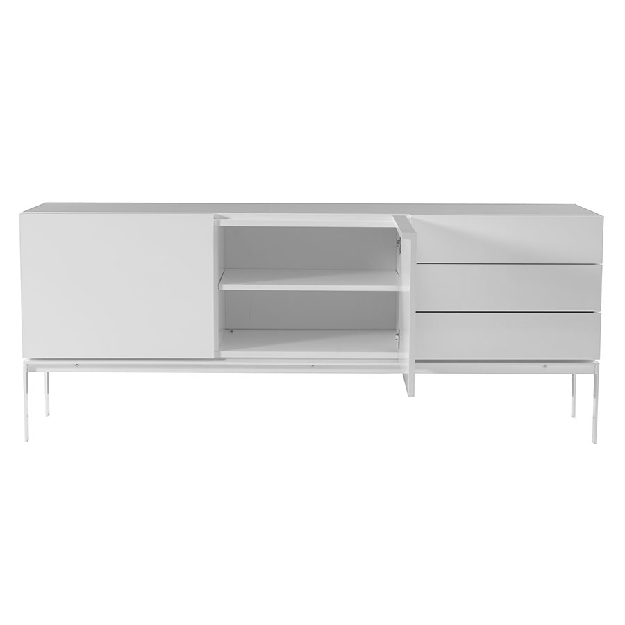 Glare Contemporary Sideboard Front Open