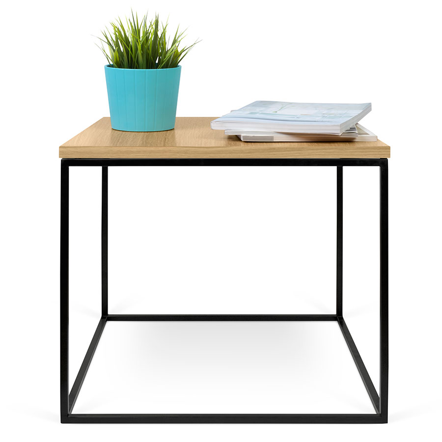 Gleam Oak Black Modern Side Table By Temahome Eurway