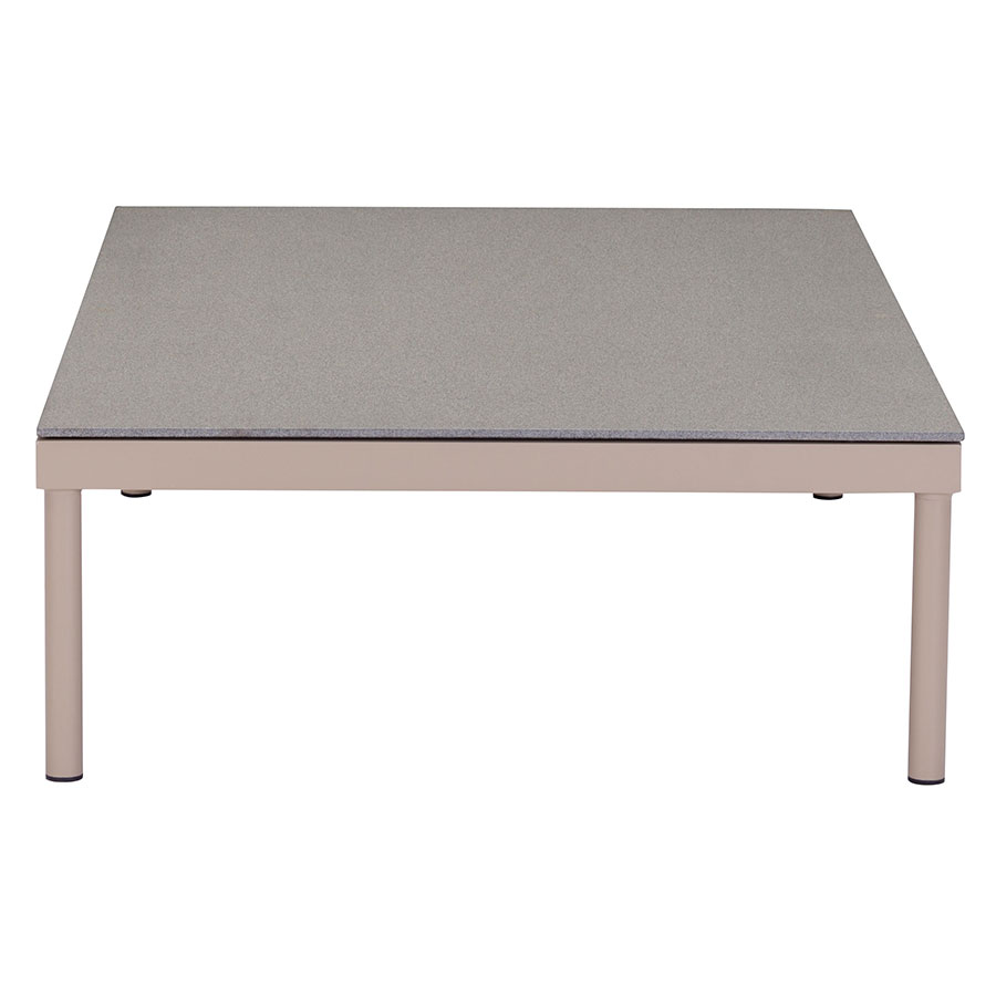 Godard Taupe + Granite Modern Outdoor Coffee Table