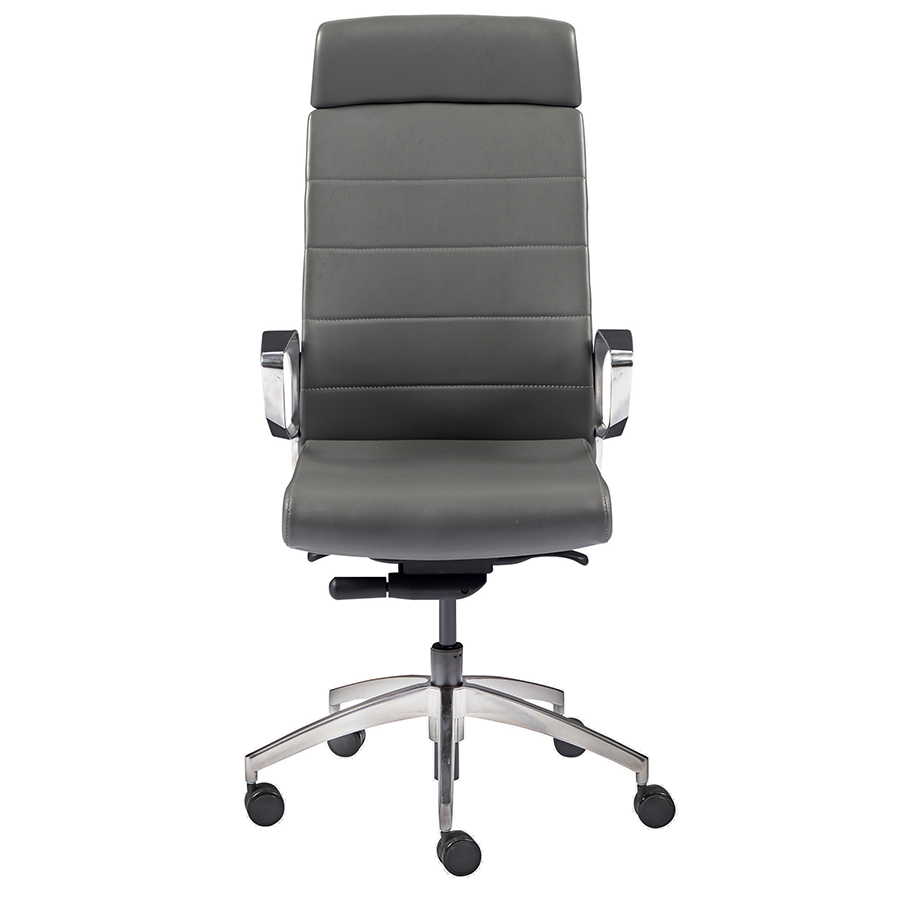 Gotan Gray Leatherette Modern Executive Office Chair