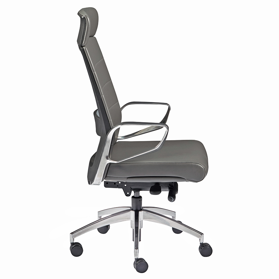 Gotan Gray Leatherette Contemporary Executive Office Chair