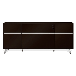 Gothenburg Espresso Laminate + Metal Modern Office Credenza