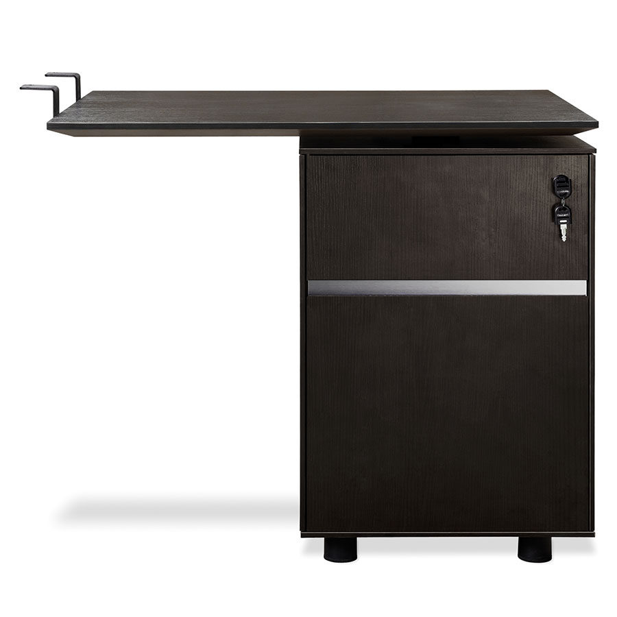Gothenburg Espresso Laminate Modern Desk Return + File