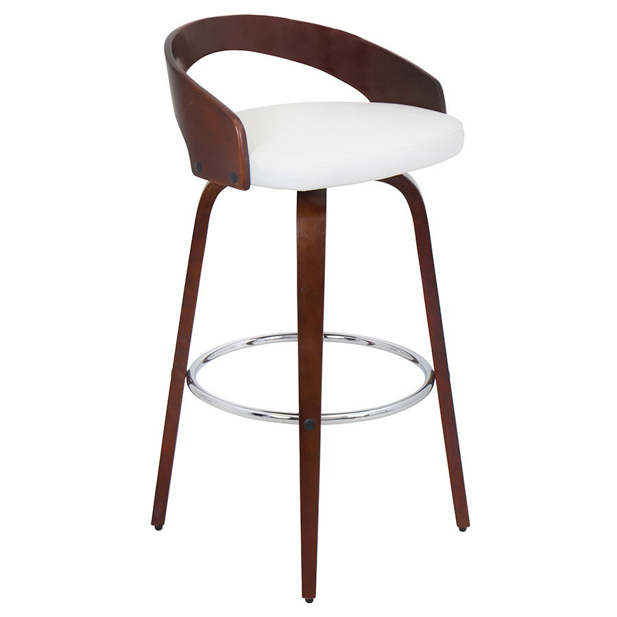 Grove Modern Cherry and White Bar Stool