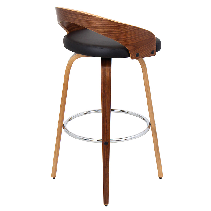 Grove Modern Walnut Bar Stool