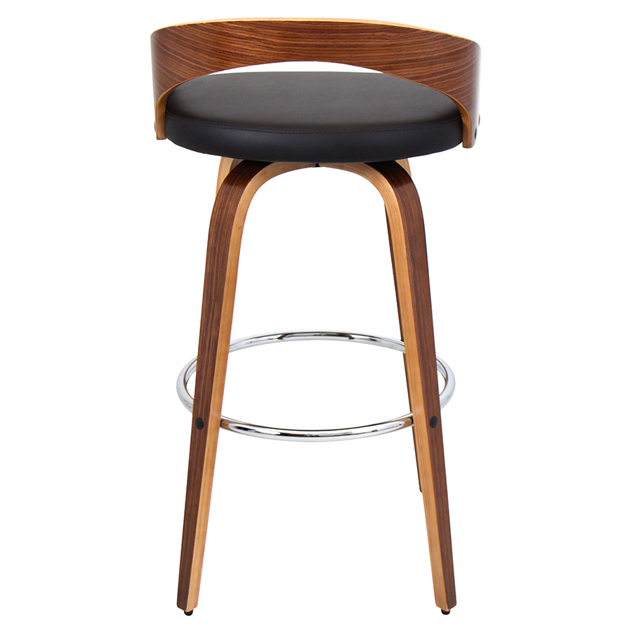 Grove Modern Walnut Bar Stool - Back View