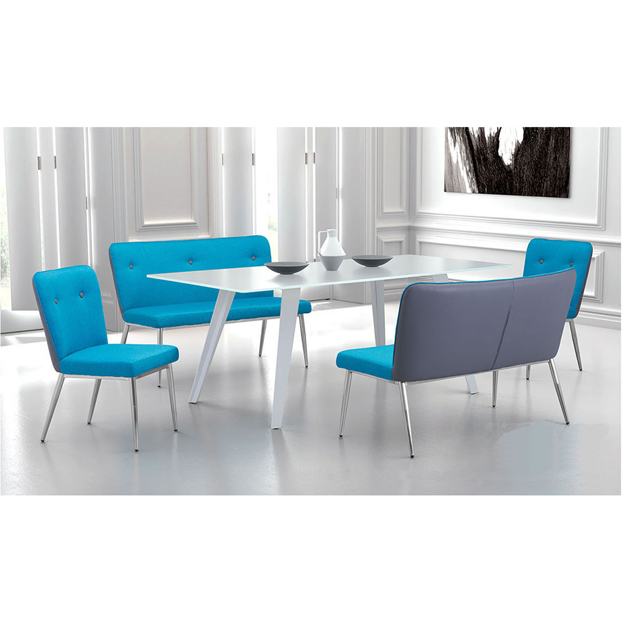 Hagen White Contemporary Dining Table