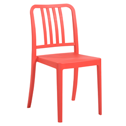 Halliday Red Modern Stacking Chair