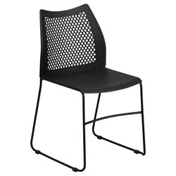 Hanna Modern Stacking Guest Chair in Black