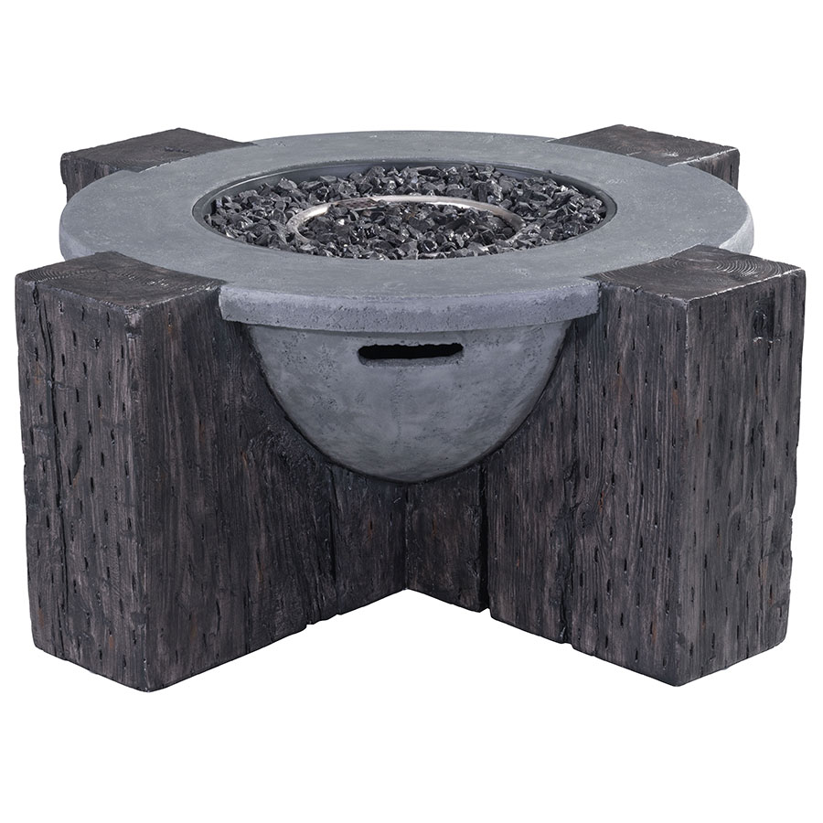 Hardy Gray Contemporary Fire Pit
