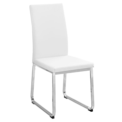 Harlow White Modern Dining Chair