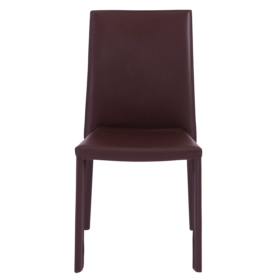 Hasina Brown Contemporary Stacking Chair