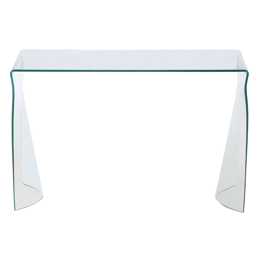 Haynes Modern Bent Glass Console Table