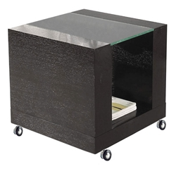 Heathe Modern End Table with Castors