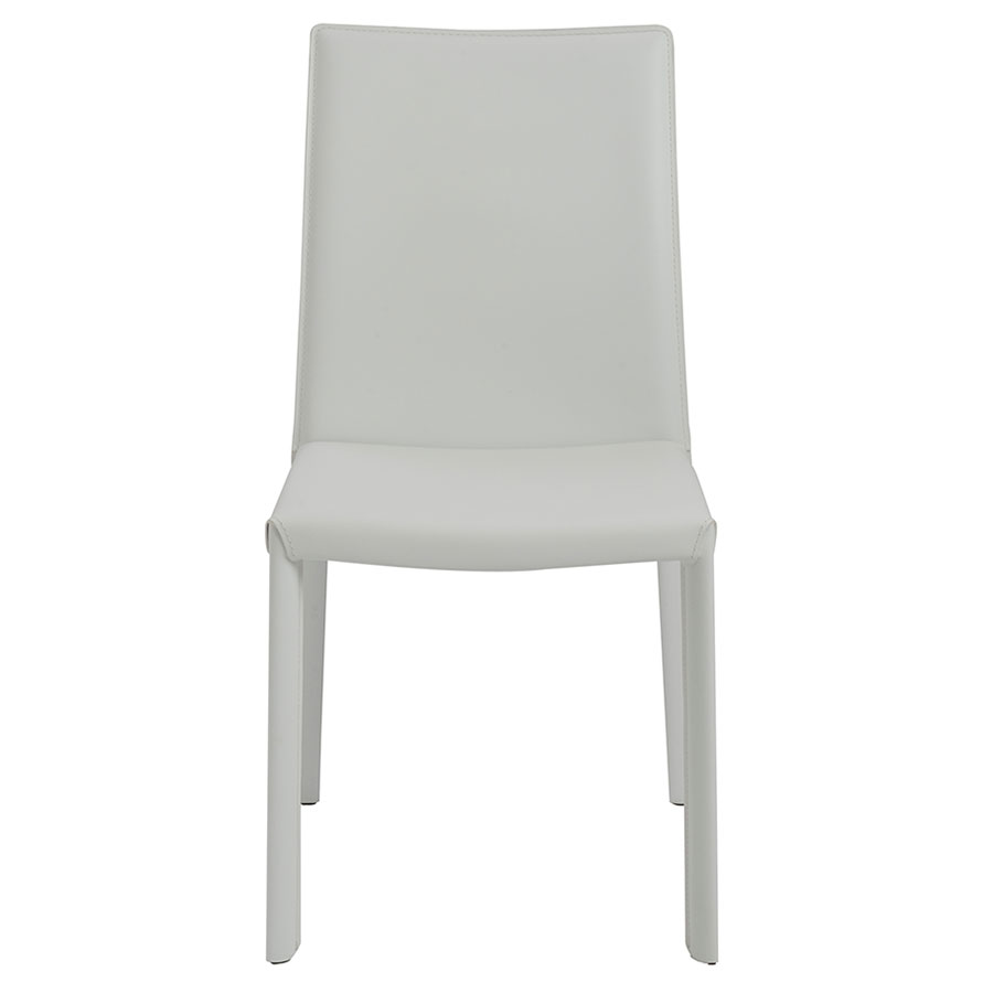 Heather Modern White Dining Chair - Front View