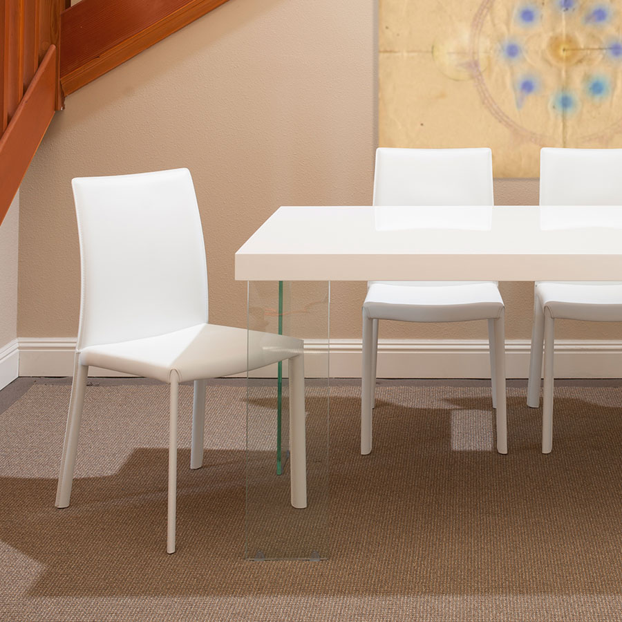 Heather Contemporary White Dining Chair